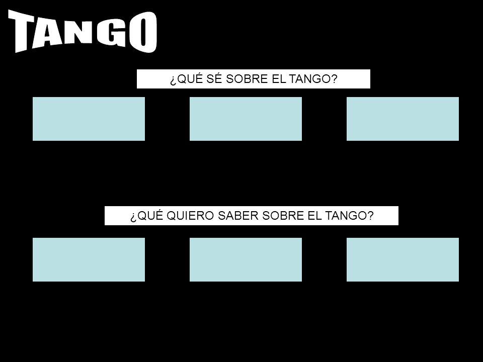 ¿QUÉ QUIERO SABER SOBRE EL TANGO