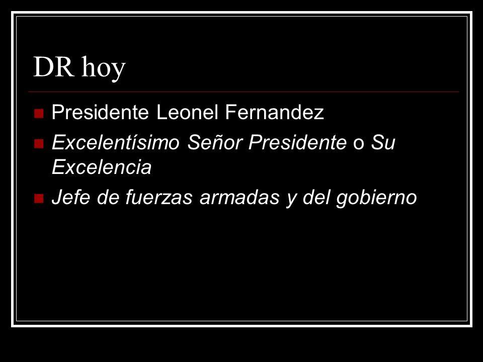 DR hoy Presidente Leonel Fernandez