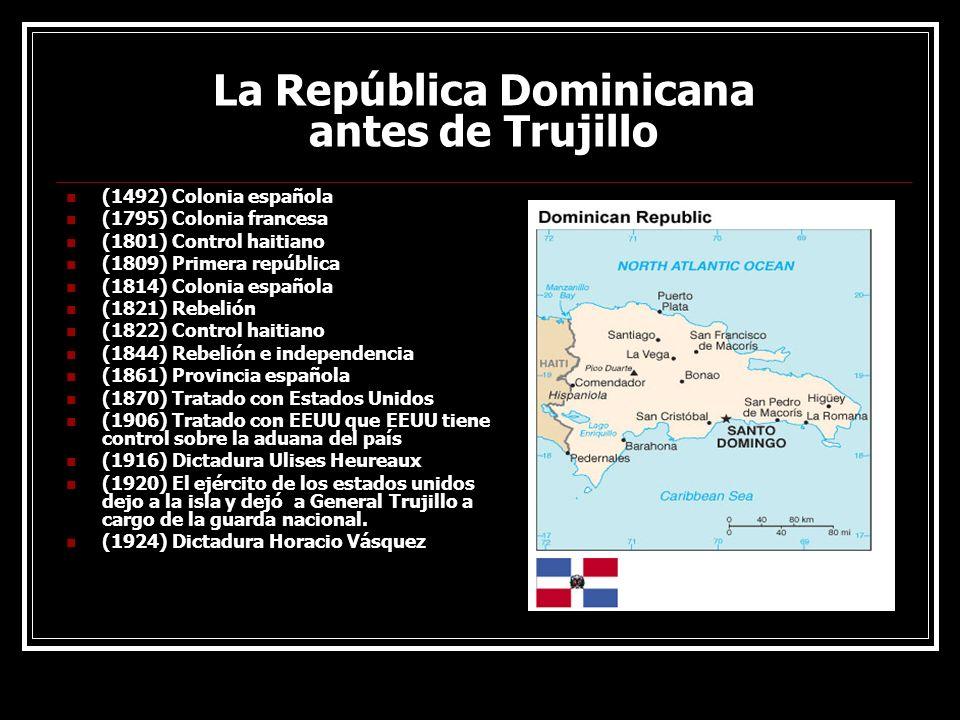 La República Dominicana antes de Trujillo