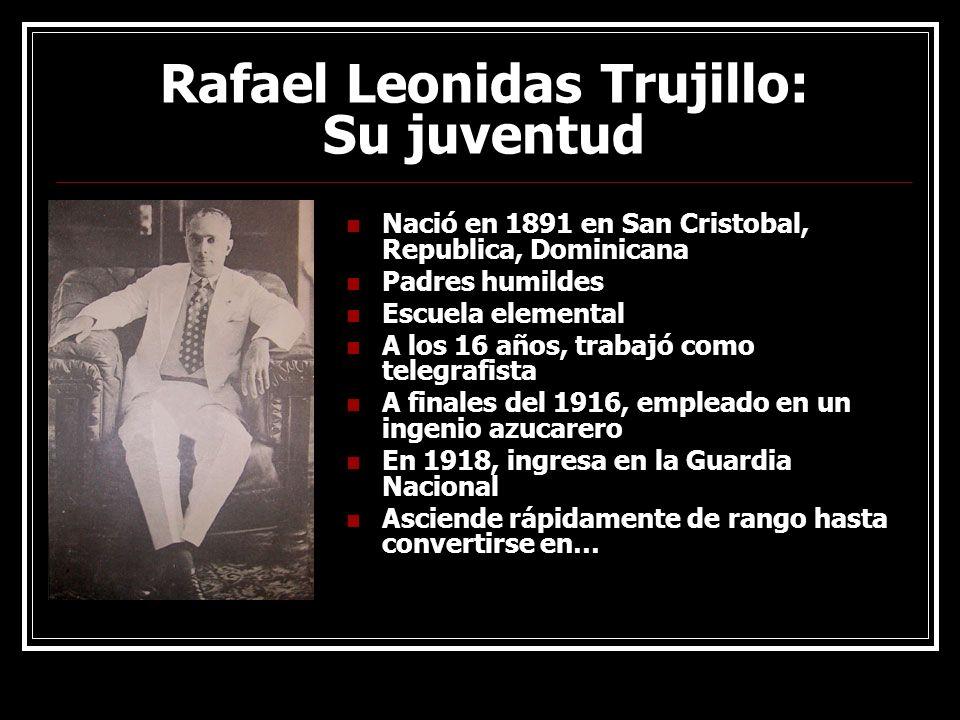 Rafael Leonidas Trujillo: Su juventud