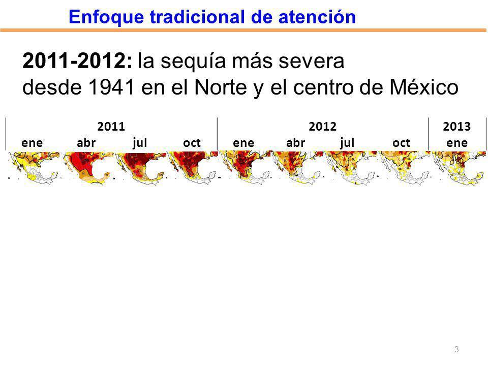 desde 1941 en el Norte y el centro de México