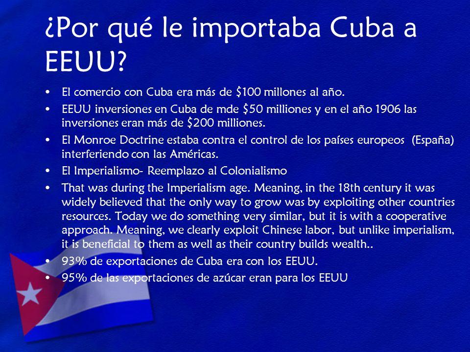 ¿Por qué le importaba Cuba a EEUU