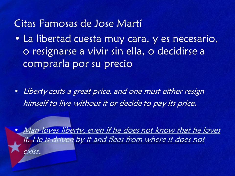 Citas Famosas de Jose Martí