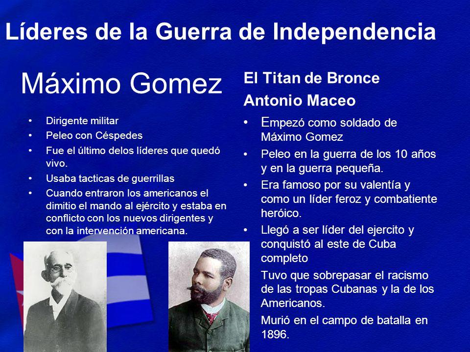 Máximo Gomez Líderes de la Guerra de Independencia El Titan de Bronce