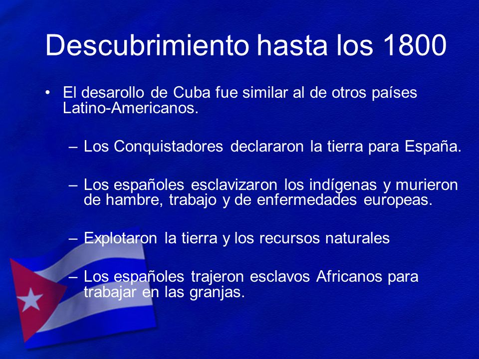 Descubrimiento hasta los 1800