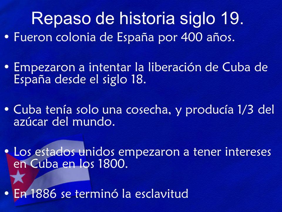 Repaso de historia siglo 19.