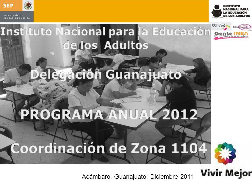 PROGRAMA ANUAL 2012 Coordinación de Zona 1104