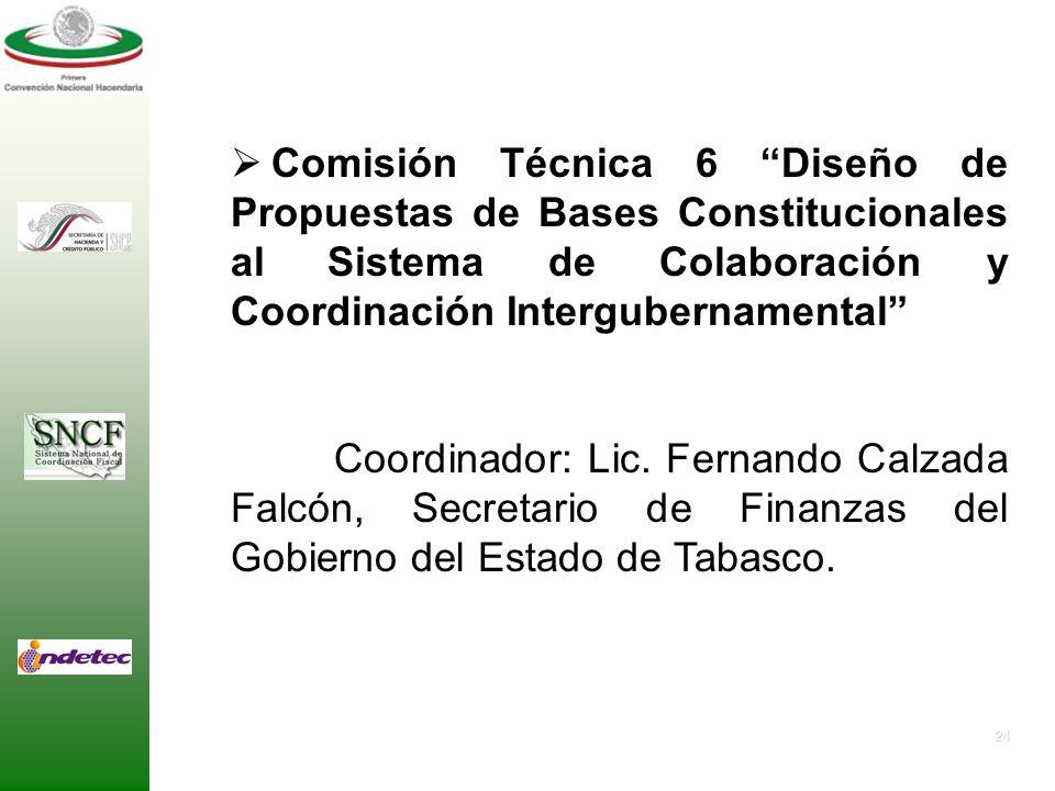 Comisión Técnica 6 Diseño de Propuestas de Bases Constitucionales al Sistema de Colaboración y Coordinación Intergubernamental