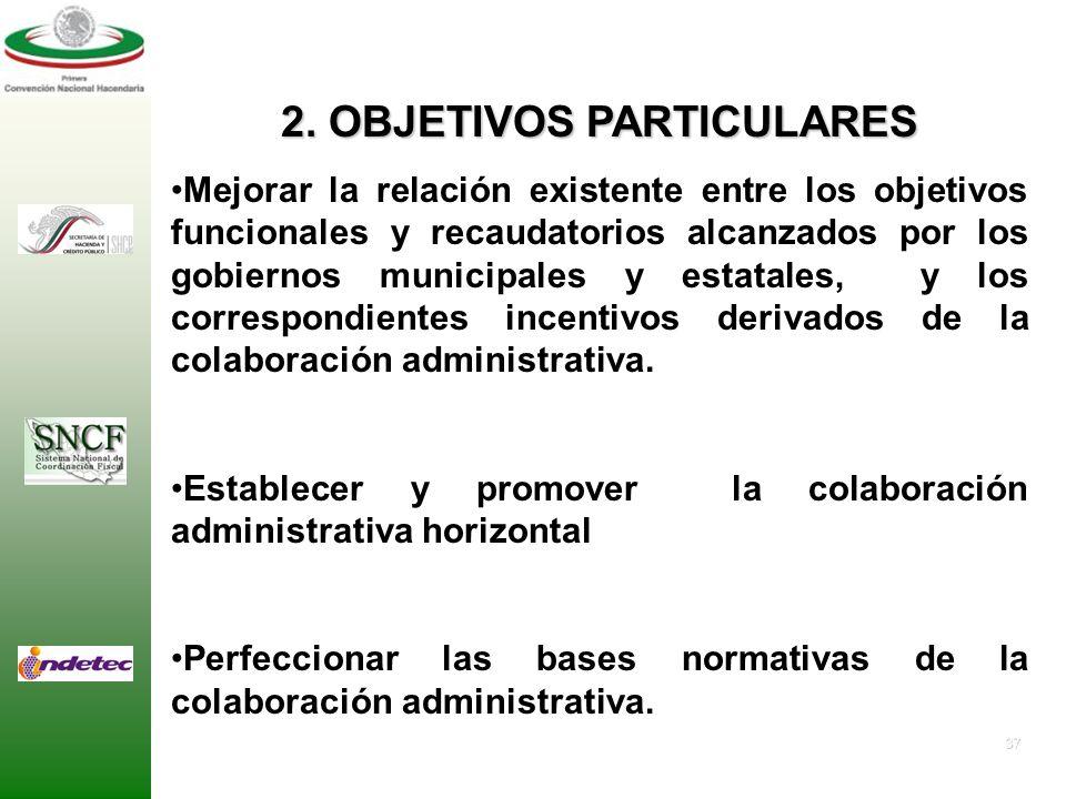 2. OBJETIVOS PARTICULARES