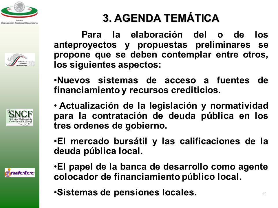 3. AGENDA TEMÁTICA