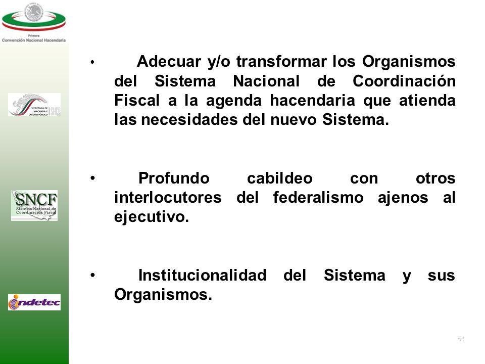 Institucionalidad del Sistema y sus Organismos.