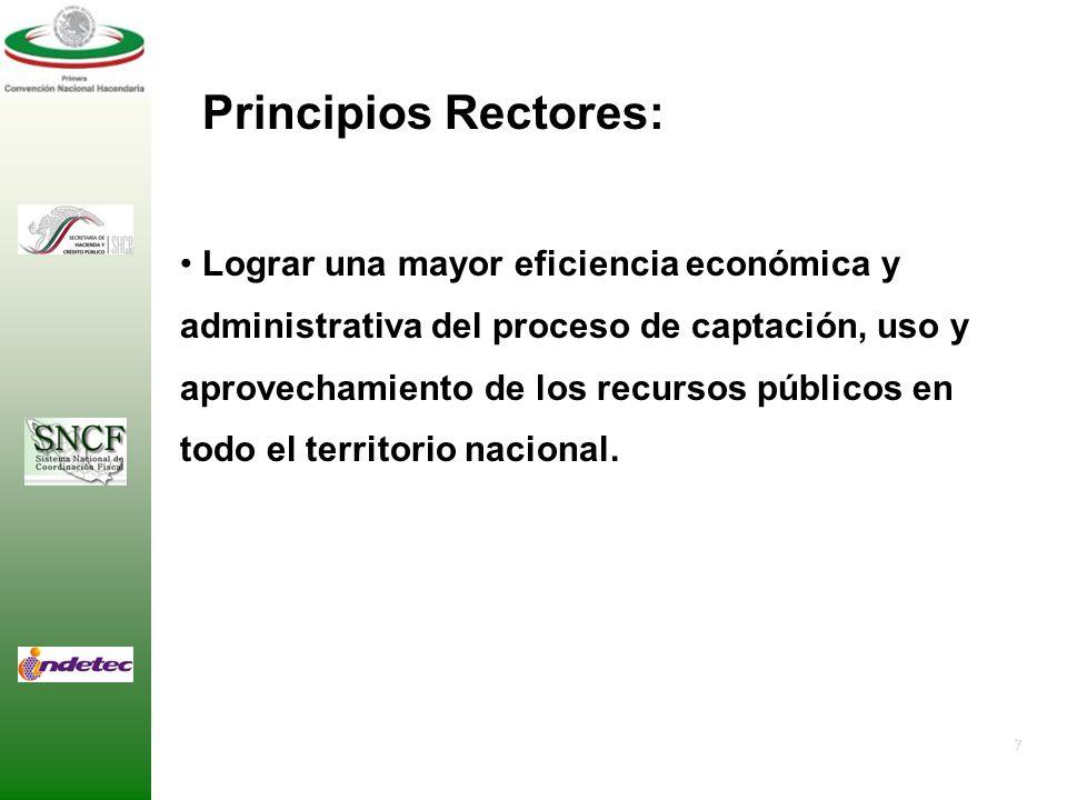 Principios Rectores: Lograr una mayor eficiencia económica y