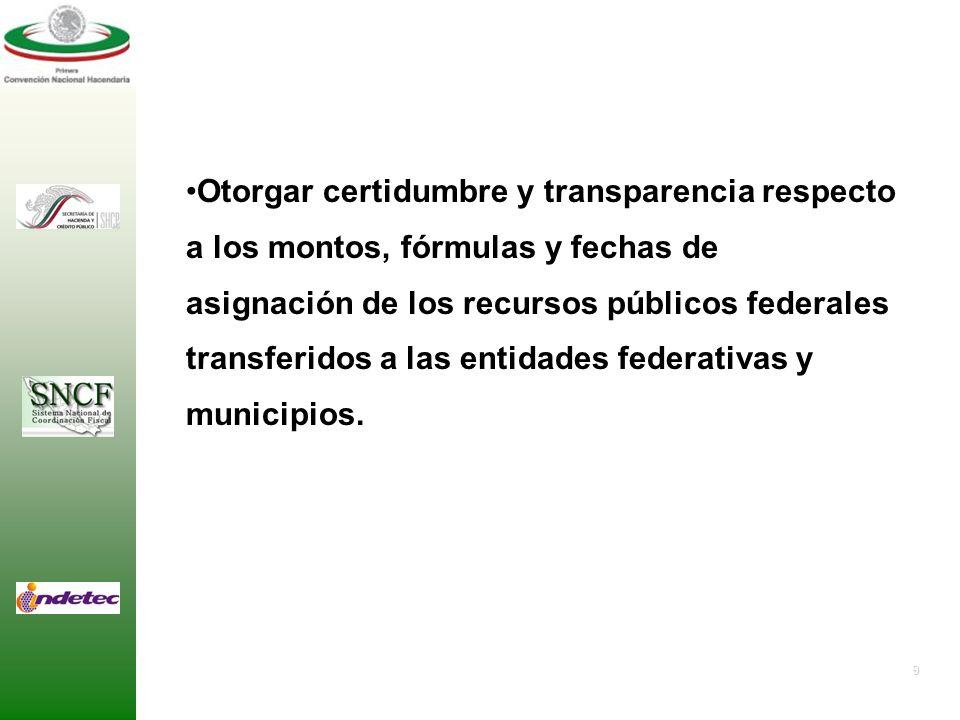 Otorgar certidumbre y transparencia respecto