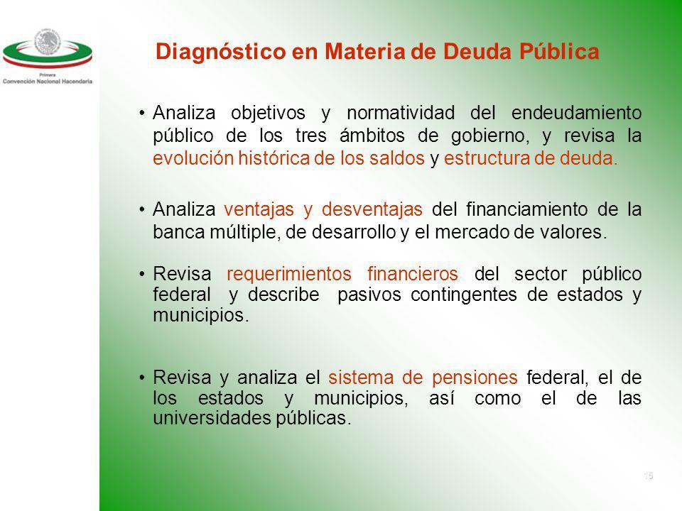 Diagnóstico en Materia de Deuda Pública