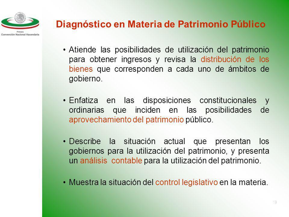 Diagnóstico en Materia de Patrimonio Público