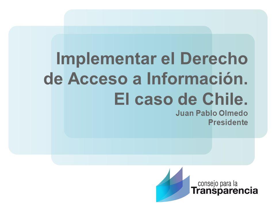 Implementar el Derecho de Acceso a Información. El caso de Chile