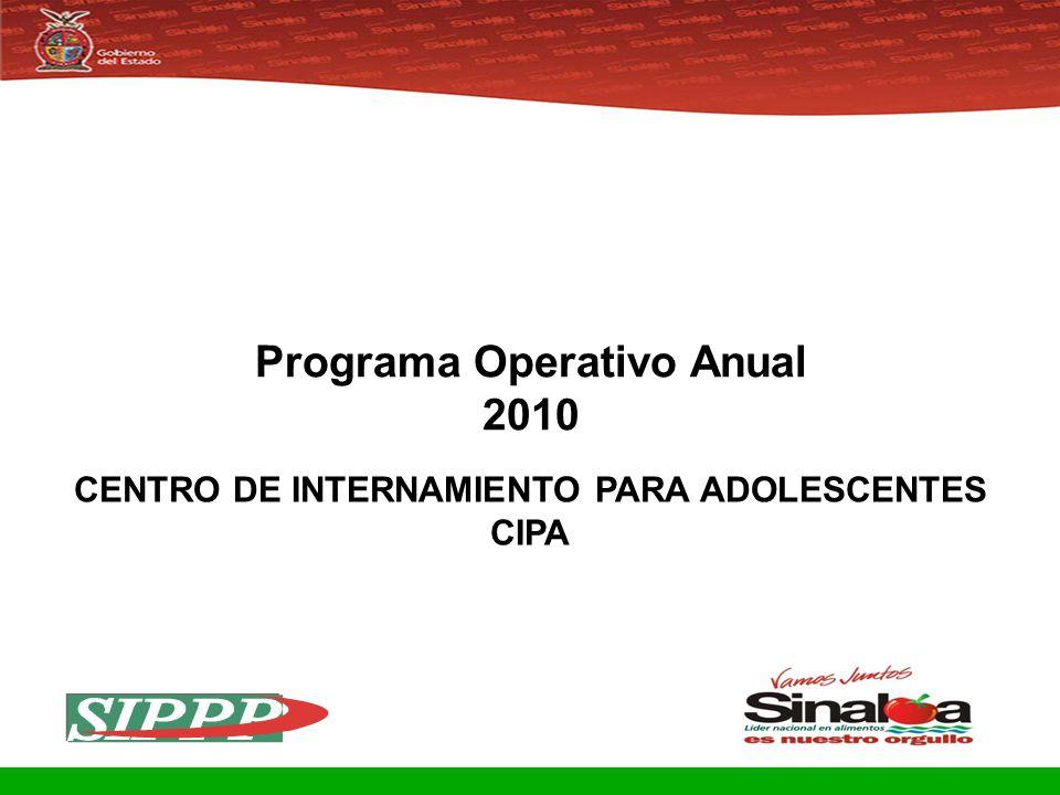 Programa Operativo Anual CENTRO DE INTERNAMIENTO PARA ADOLESCENTES