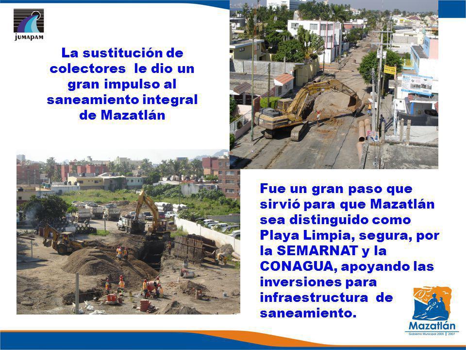 La sustitución de colectores le dio un gran impulso al saneamiento integral de Mazatlán