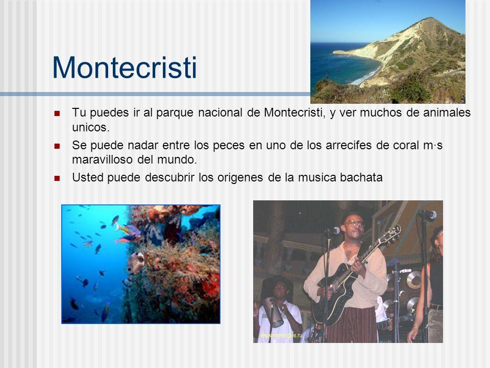 MontecristiTu puedes ir al parque nacional de Montecristi, y ver muchos de animales unicos.