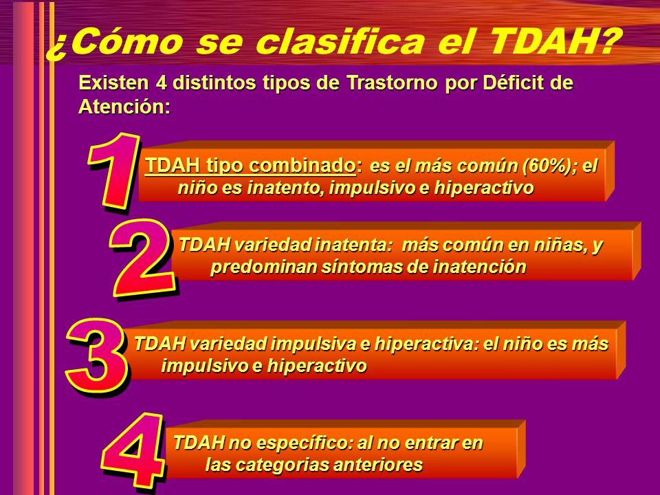 ¿Cómo se clasifica el TDAH