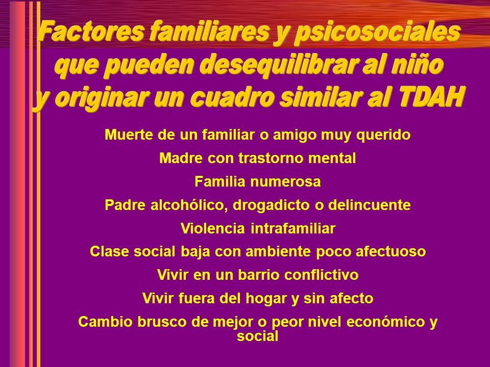 Factores familiares y psicosociales que pueden desequilibrar al niño