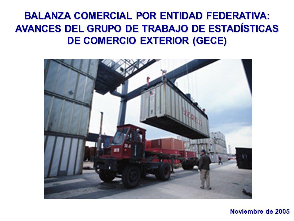 BALANZA COMERCIAL POR ENTIDAD FEDERATIVA: