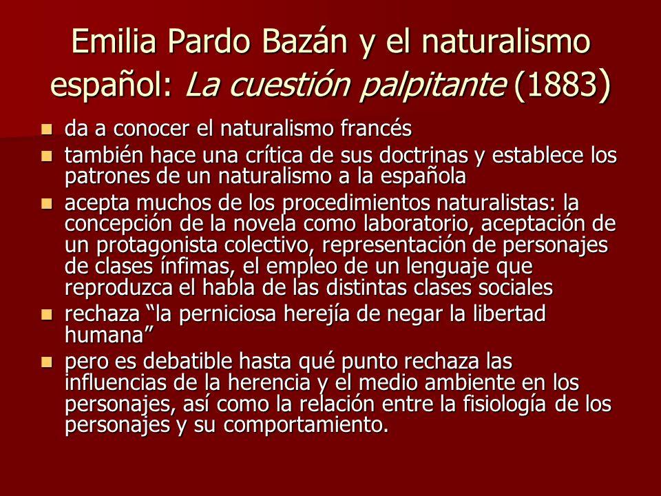 Emilia Pardo Bazán y el naturalismo español: La cuestión palpitante (1883)