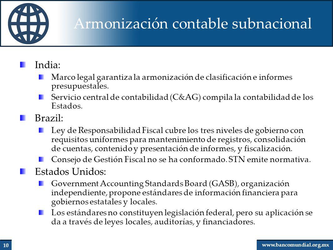 Armonización contable subnacional