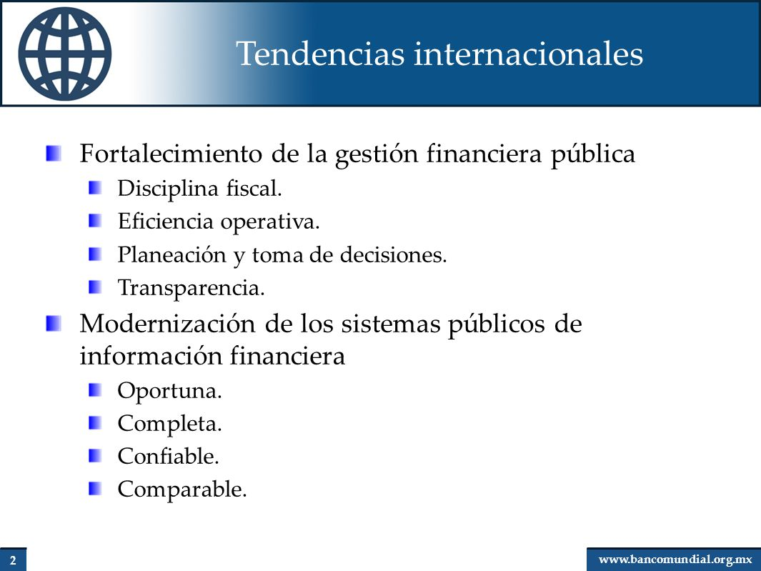 Tendencias internacionales