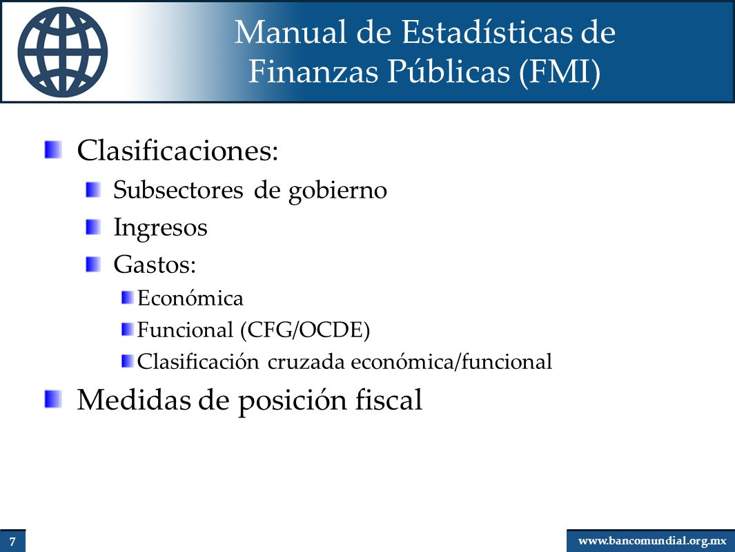 Manual de Estadísticas de Finanzas Públicas (FMI)