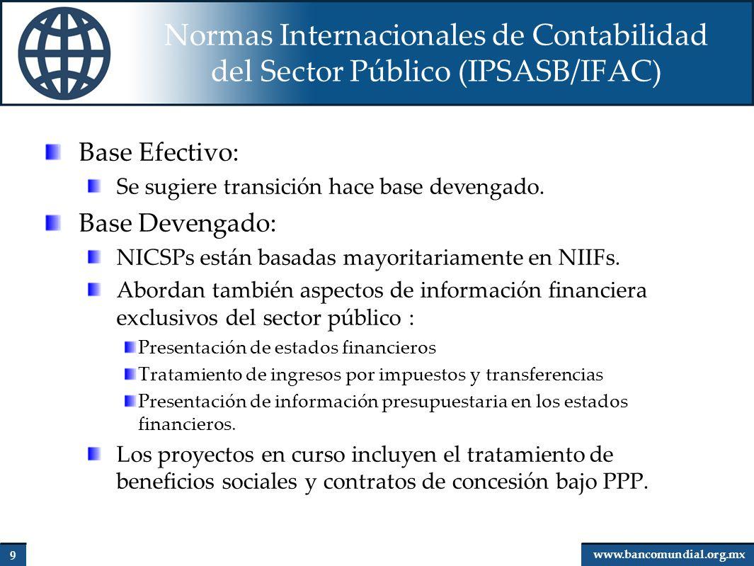 Normas Internacionales de Contabilidad del Sector Público (IPSASB/IFAC)