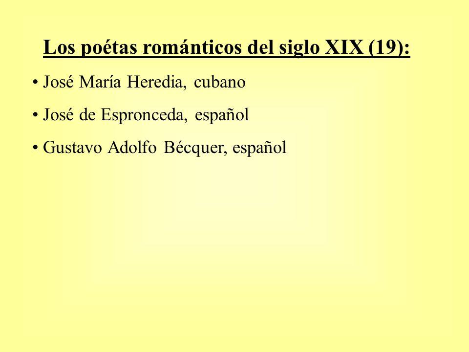 Los poétas románticos del siglo XIX (19):