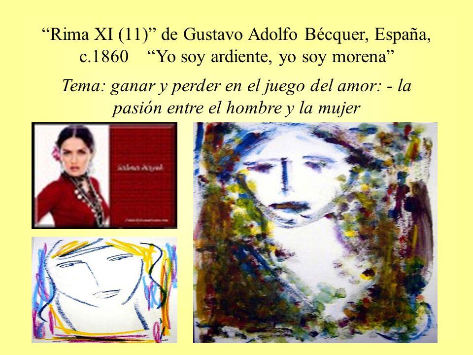 Rima XI (11) de Gustavo Adolfo Bécquer, España, c