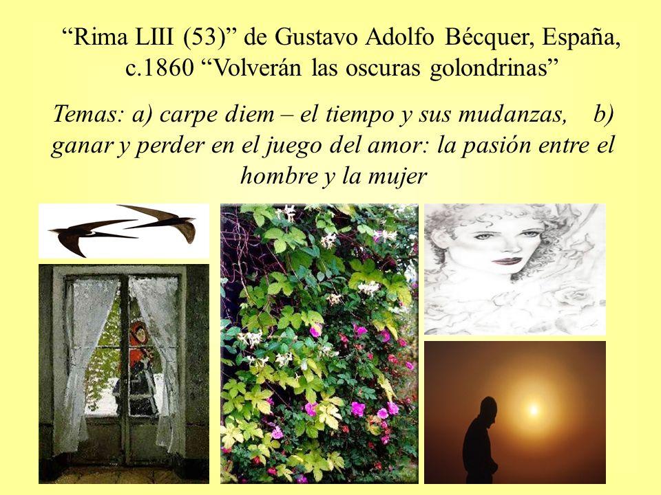 Rima LIII (53) de Gustavo Adolfo Bécquer, España, c