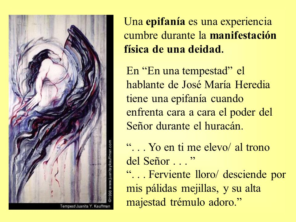Una epifanía es una experiencia cumbre durante la manifestación física de una deidad.