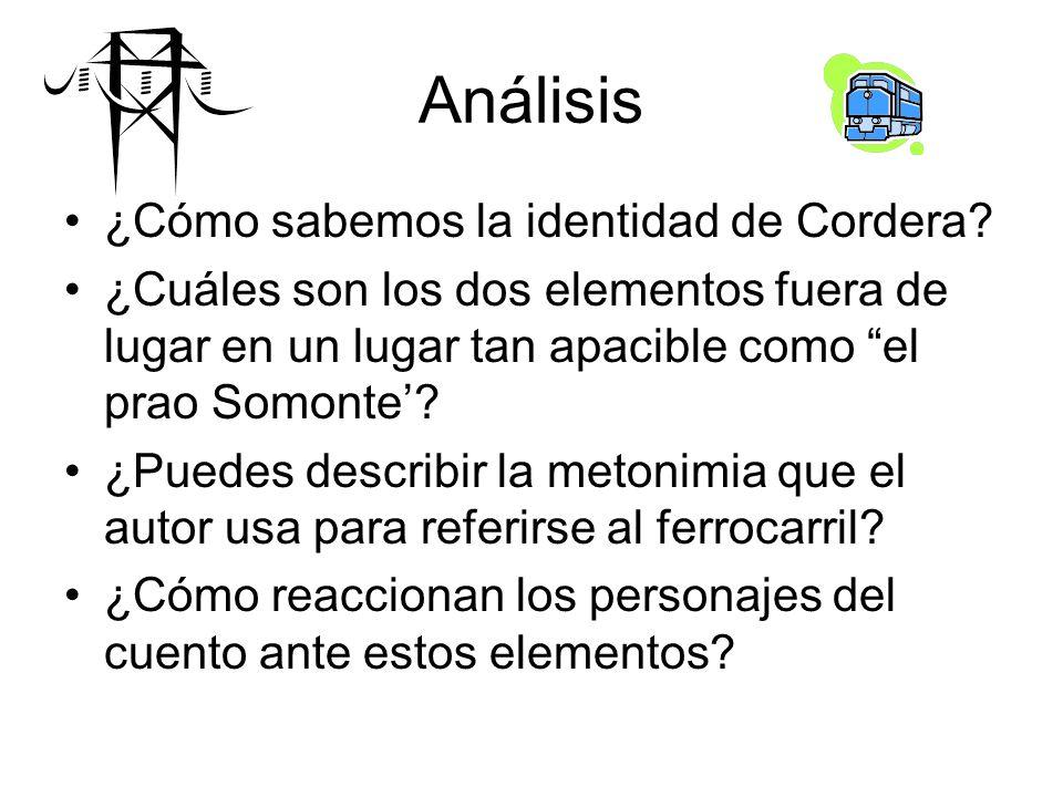 Análisis ¿Cómo sabemos la identidad de Cordera