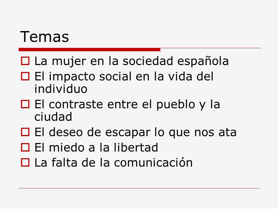 Temas La mujer en la sociedad española
