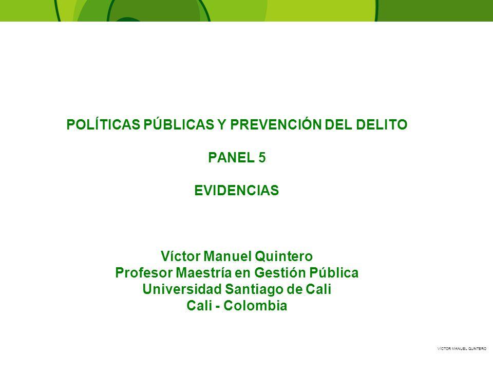 POLÍTICAS PÚBLICAS Y PREVENCIÓN DEL DELITO