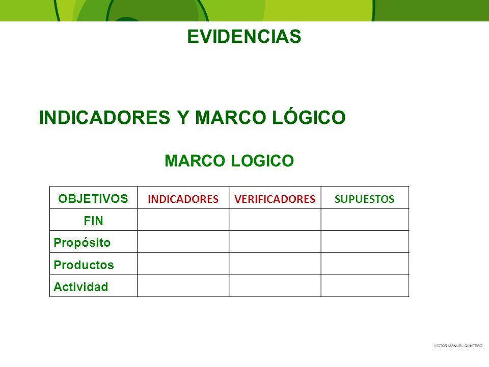 INDICADORES Y MARCO LÓGICO