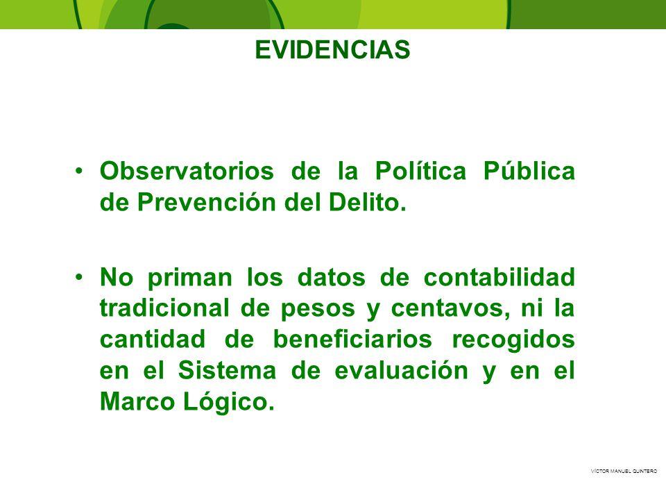 EVIDENCIAS Observatorios de la Política Pública de Prevención del Delito.