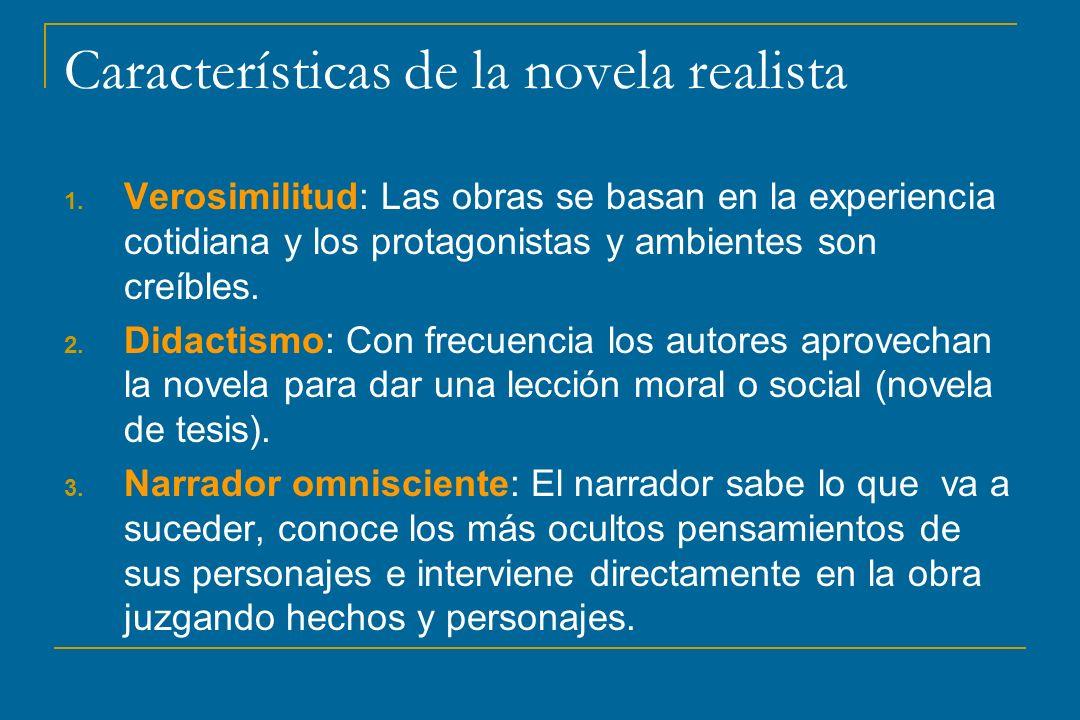 Características de la novela realista