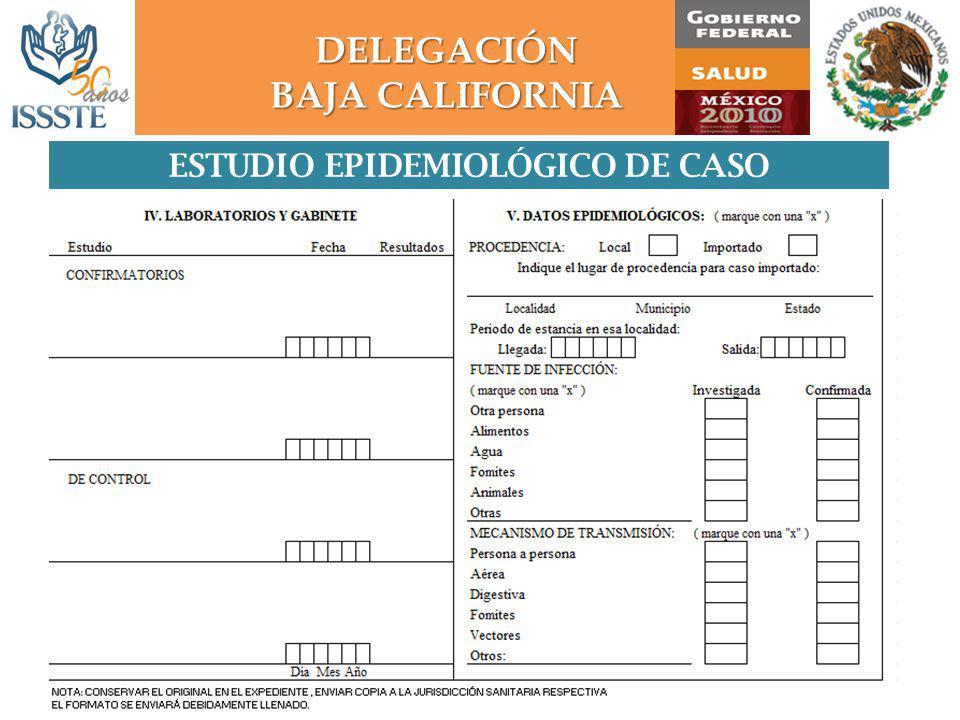 ESTUDIO EPIDEMIOLÓGICO DE CASO