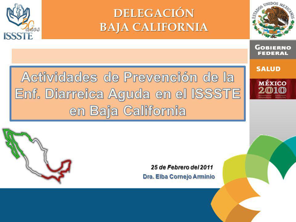 Actividades de Prevención de la Enf. Diarreica Aguda en el ISSSTE