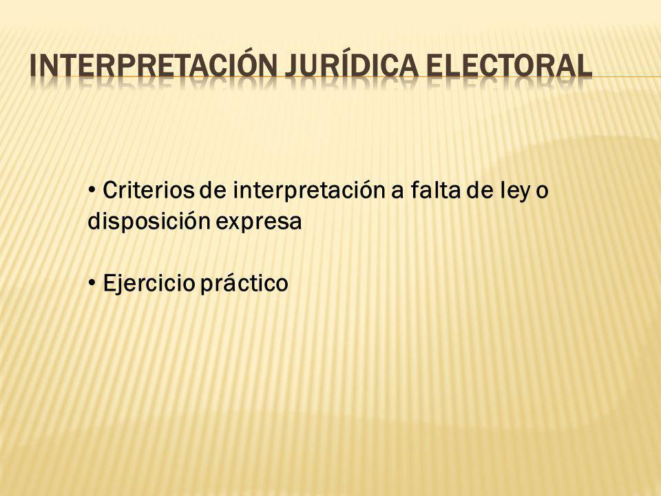 Interpretación Jurídica Electoral