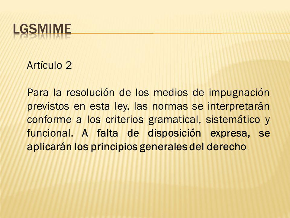 LGSMIME Artículo 2.