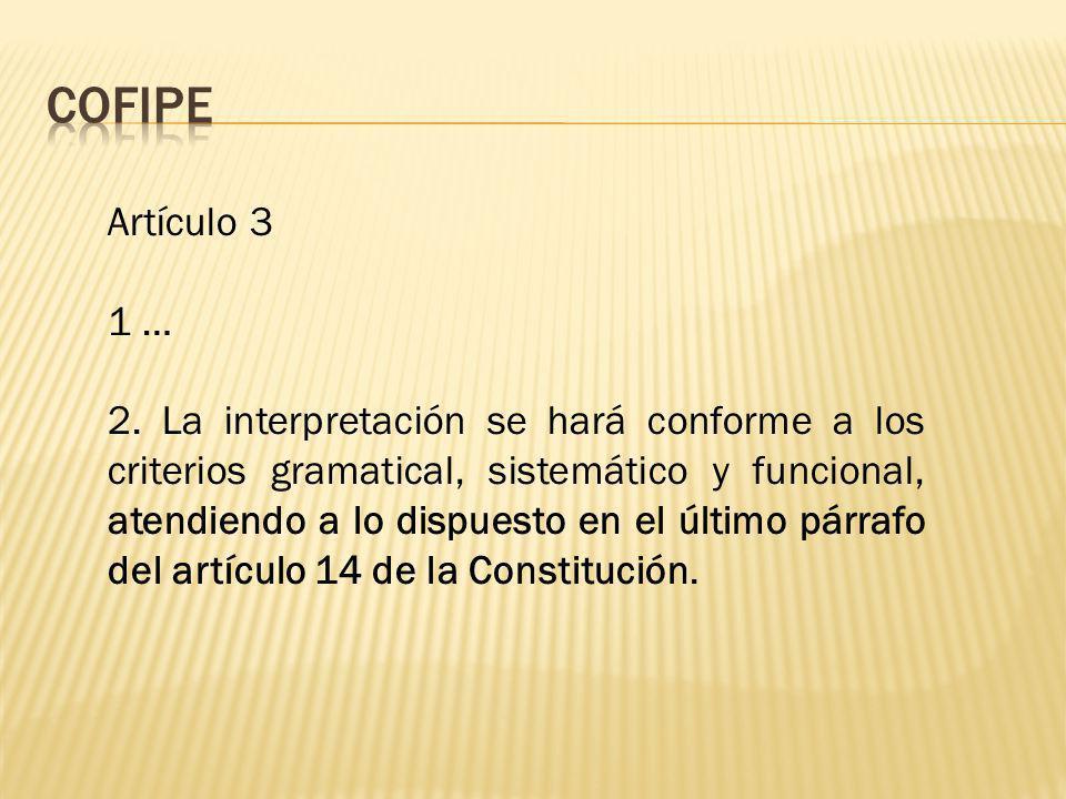 COFIPE Artículo 3. 1 …