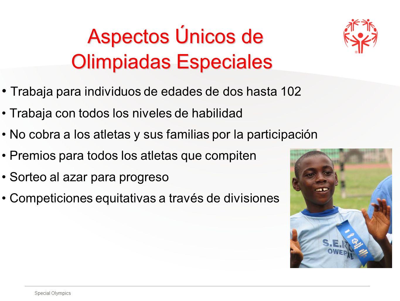 Aspectos Únicos de Olimpiadas Especiales