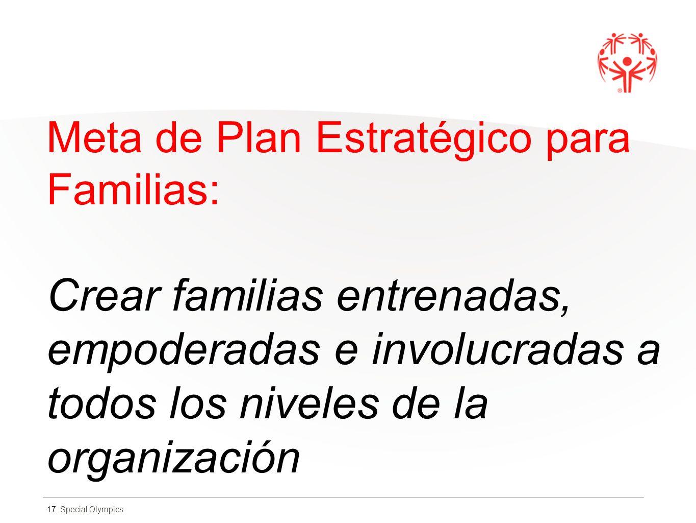 Meta de Plan Estratégico para Familias: Crear familias entrenadas, empoderadas e involucradas a todos los niveles de la organización