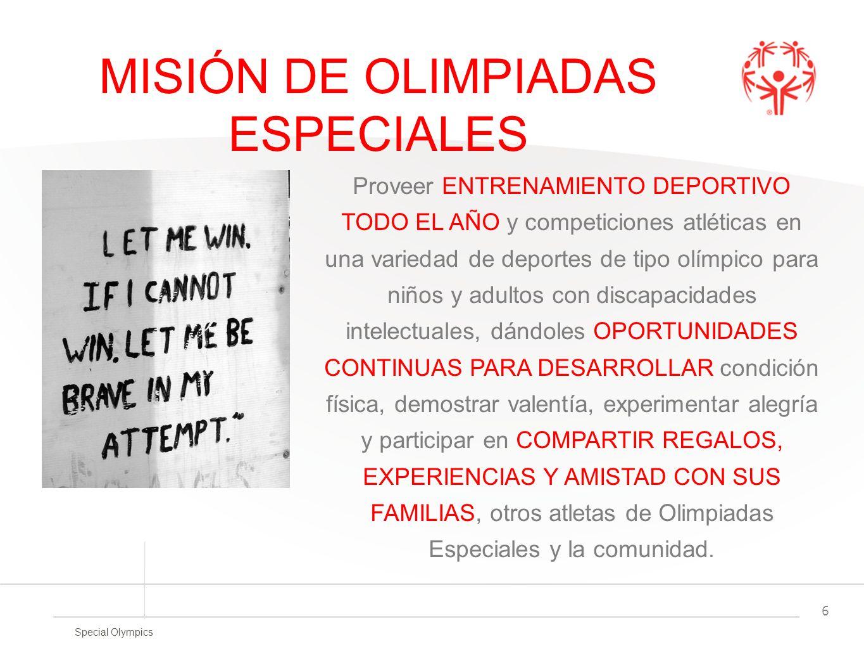 MISIÓN DE OLIMPIADAS ESPECIALES