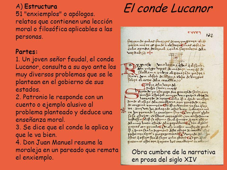 El conde Lucanor A) Estructura